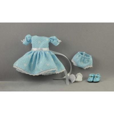 Set Robe à petits Noeuds blancs Poupée Heartstring