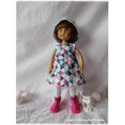 Tenue Triangles colorés pour poupée Boneka