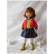 Tenue Princesse aux petits pois pour poupée Boneka