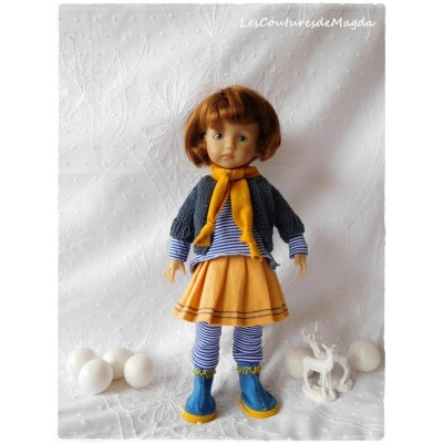 Tenue Petite Ecolière pour poupée Boneka
