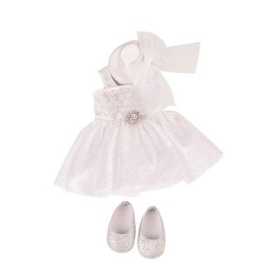 Set Robe blanche et Chapeau pour Poupée 45-50 Cm