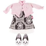 Ensemble Robe Style Panda pour Poupée 45-50 Cm