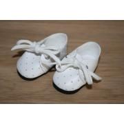 Chaussures blanches à lacets pour Amigas