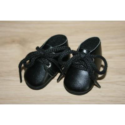 Chaussures noires à lacets pour Amigas