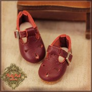 Chaussures cuir rouge grenat pour InMotion Girl
