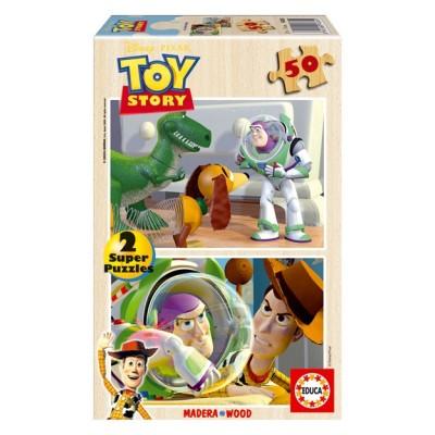 2 Puzzles bois Toy Story - 2 x 50 Pièces