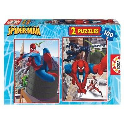 2 Puzzles Spider-Man - 100 Pièces