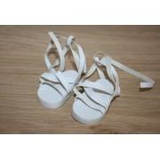 Sandales blanches à lanières pour Amigas