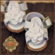 Sandales blanches Fleur  pour Yu Ping