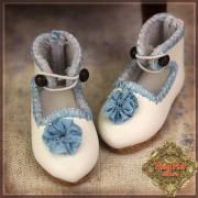 Chaussures blanches à Fleur bleue pour InMotion Girl