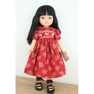 Mei Robe rouge Fleur de Rubis