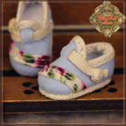 Chaussures bleu ciel à motifs  pour Yu Ping