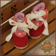 Chaussures rouges à noeuds pour InMotion Girl