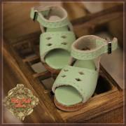 Sandales vertes en cuir pour InMotion Girl