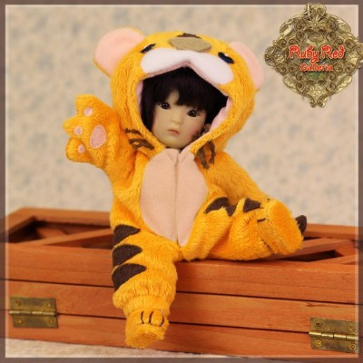 Ensemble Costume Tigre Orange pour Yu Ping