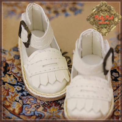 Chaussures Cuir blanches à franges pour InMotion Girl