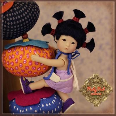 Poupée Tanghulu Wu Chui'er (Startled)