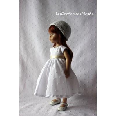 Tenue Plumetis pour poupée Boneka