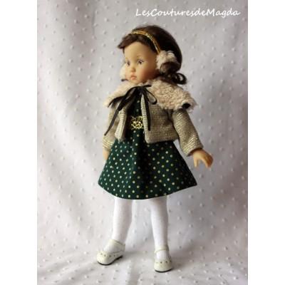 Tenue Petit Pois pour poupée Boneka
