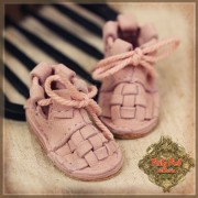Chaussures cuir rose à lacets pour InMotion Girl