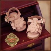 Sandales Roses Fleur  pour Yu Ping