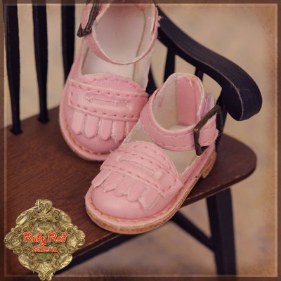 Chaussures Cuir roses à franges pour InMotion Girl