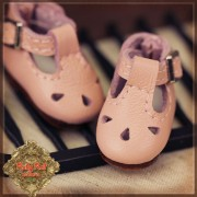 Chaussures cuir rose  pour Yu Ping