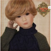 Pull kaki et navy à col roulé pour poupée Rubyred 30 Cm