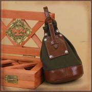 Sac bandoulière kaki et brun pour poupée Rubyred 30 Cm