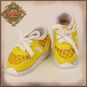 Baskets jaunes à lacets