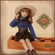 Ensemble Blouse denim et Jupe pour poupée Rubyred 30 Cm