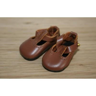Chaussures T-Strap Coquelicot pour Boneka