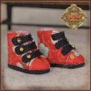 Bottines rouges en toile à motifs floraux pour InMotion Girl Ruby Red Galleria