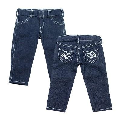 Jeans denim skinny-Coeurs-poupées-46-50 cm-Sophia's