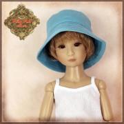Chapeau Bob bleu pour poupée Rubyred 30 Cm