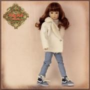 Ensemble Jeans et manteau pour poupée Rubyred 30 Cm