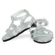 Sandales argentées pour Poupées Finouche et Starlette - Petit Collin