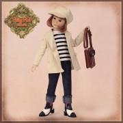 Poupée Yuri en manteau beige et béret - Senson Doll 30 Cm - Ruby Red