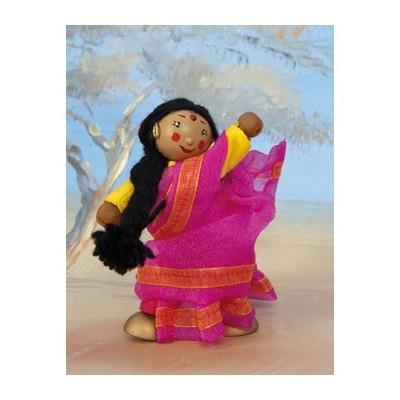 La Danseuse indienne Jasmin en bois