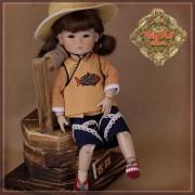 Vêtement de travail avec chapeau pour InMotion Girls - Ruby Red