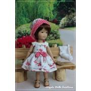 Tenue Dorothy pour poupée Ten Ping - Magda Dolls Créations
