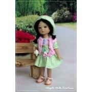 Tenue Rebecca pour poupée Ten Ping - Magda Dolls Créations