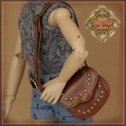 Sac brun porté épaule pour poupée Rubyred 30 Cm