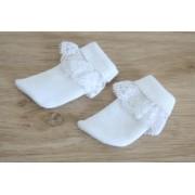 Chaussettes blanches avec dentelle pour Boneka