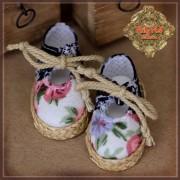 Chaussures en toile bicolores fleuries pour InMotion Girl