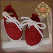 Baskets rouges à lacets pour Yu Ping