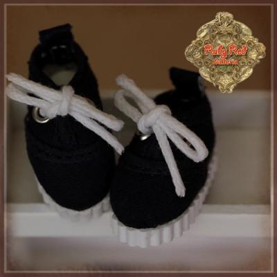 Baskets navy à lacets pour Yu Ping