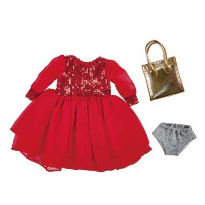 Tenue de Soirée Robe rouge pour Poupée 42 cm - Käthe Kruse