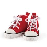Baskets hautes rouges pour Poupée La Bella - Käthe Kruse
