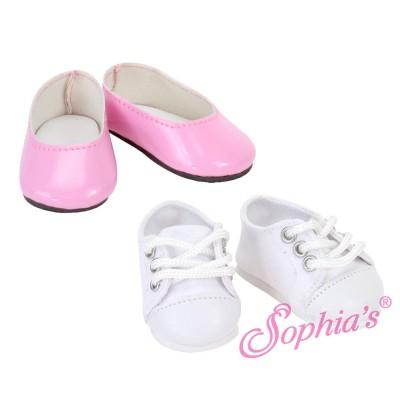 Set Ballerines roses vernies et Baskets - Sophia's